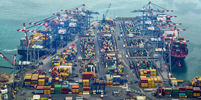 What is a container terminal, and how does it operate?