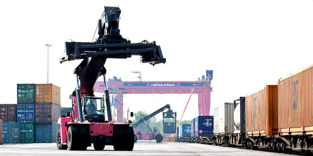 What is an intermodal terminal and how does it operate?